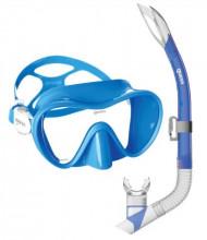 Set Tropical (maska+šnorchl) modrý