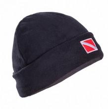 Čepice s vlajkou fleece černá