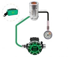 Stage set - automatika s manometrem na stage lahev: R2 TEC2 100% O2 EN250:2014