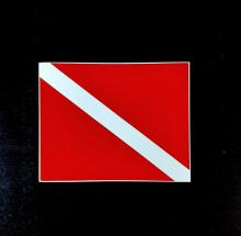 Nálepka potápěčská vlajka
